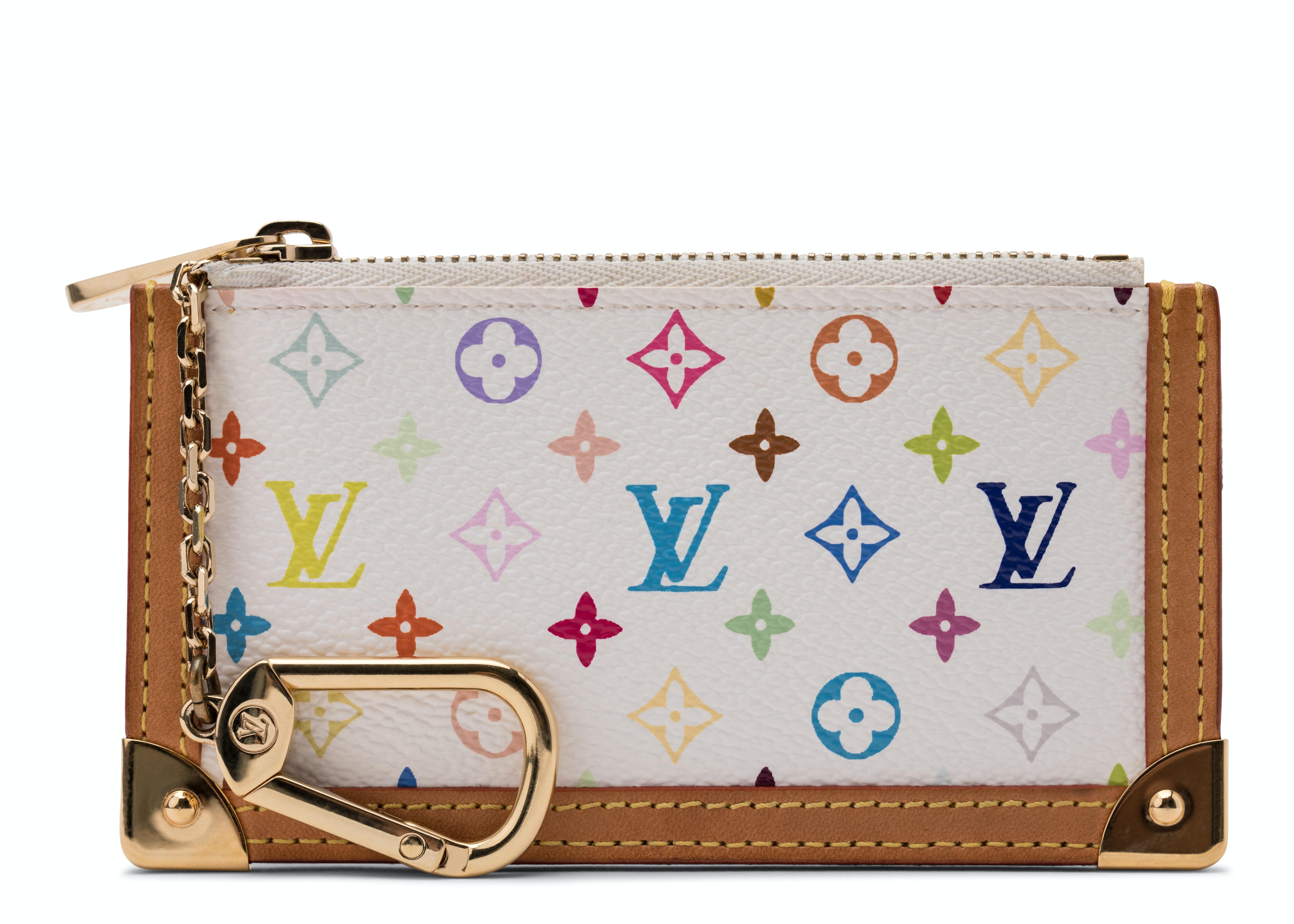 Louis Vuitton Key Pouch Monogram Multicolor White/Multicolor