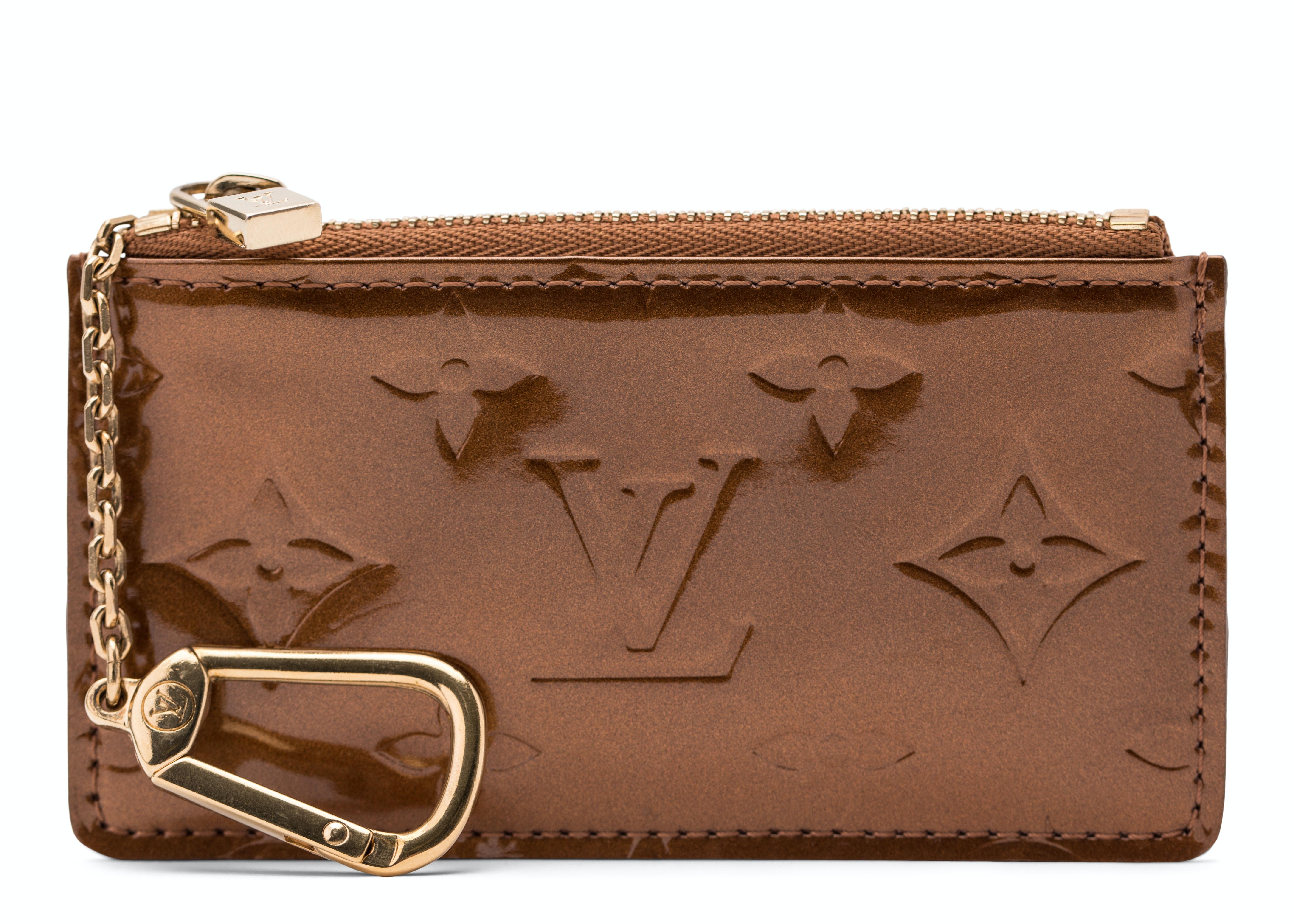 Louis Vuitton Key Pouch Monogram Vernis Bronze