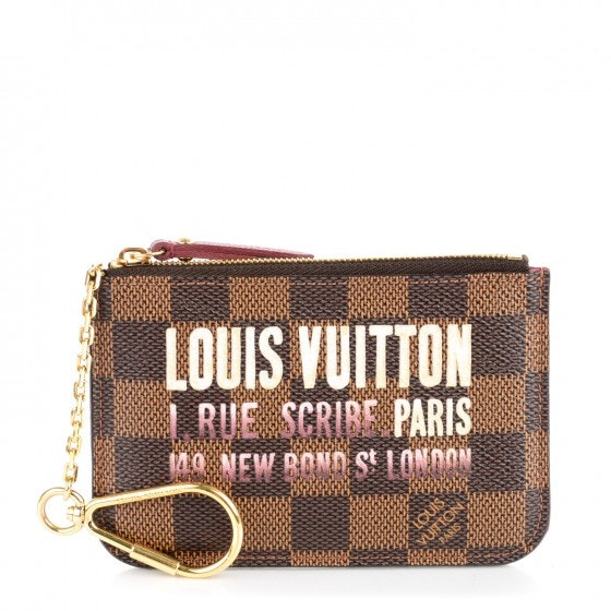 Louis Vuitton Key Pouch Scribe Affiche Damier Ebene