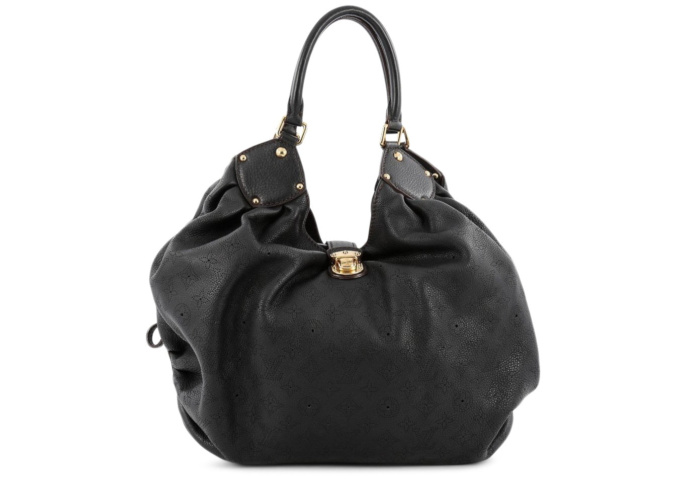Louis Vuitton L Hobo Monogram Mahina Black
