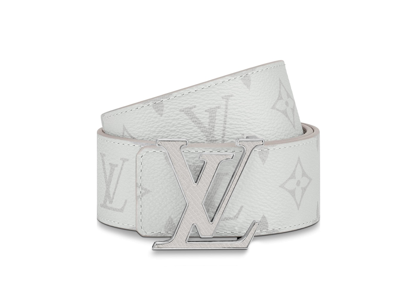 266f6851c563 Louis Vuitton LV Initiales Reversible Belt Monogram Eclipse Taiga 40MM  White. Monogram Eclipse Taiga 40MM White