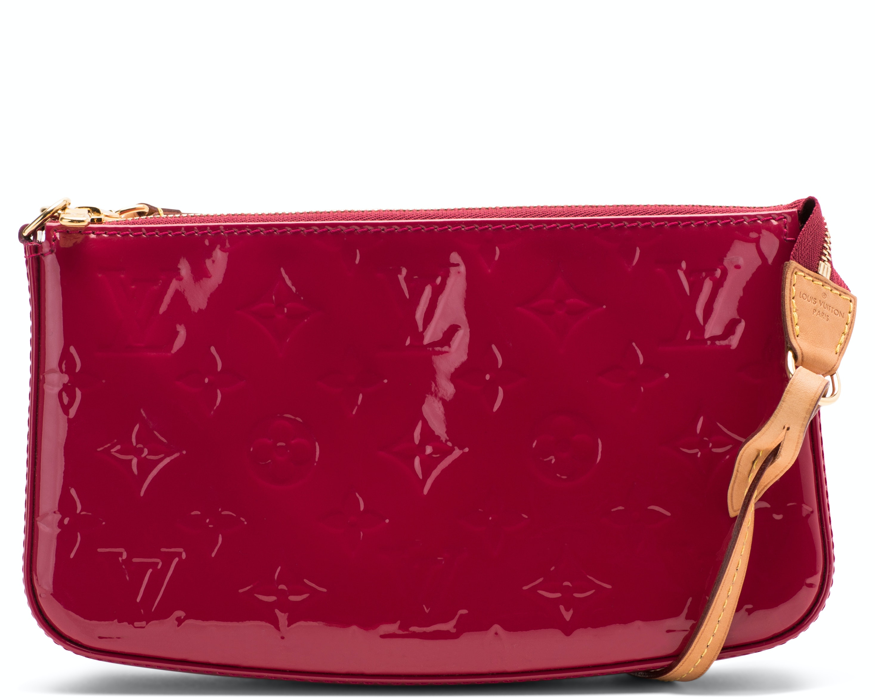 Louis Vuitton Lexington  Pochette Monogram Vernis Framboise