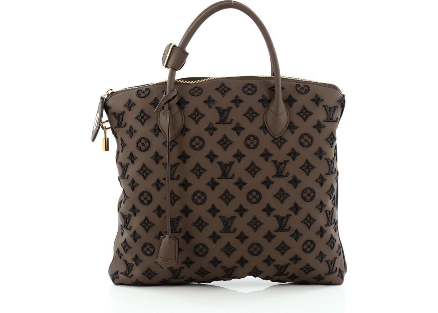 c52449ab9f8f Louis Vuitton Lockit Vertical Monogram Addiction Rubber Black Brown