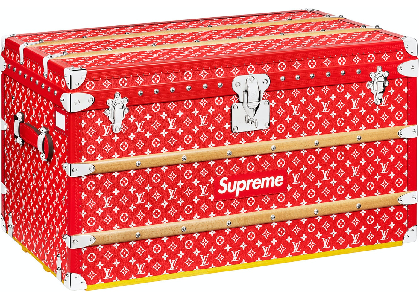 658deb7d80 Louis Vuitton x Supreme Malle Courrier Trunk Monogram 90 Red
