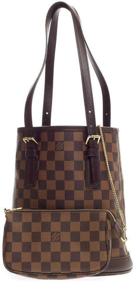 Louis Vuitton Marais Bucket Damier Ebene Brown