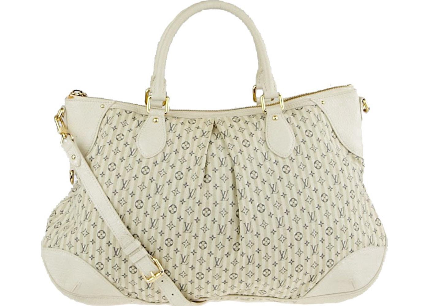 Louis Vuitton Handbag Marina Croisette Monogram Mini Lin GM Blue  White. Monogram  Mini Lin GM Blue  White 886653caa7e3f