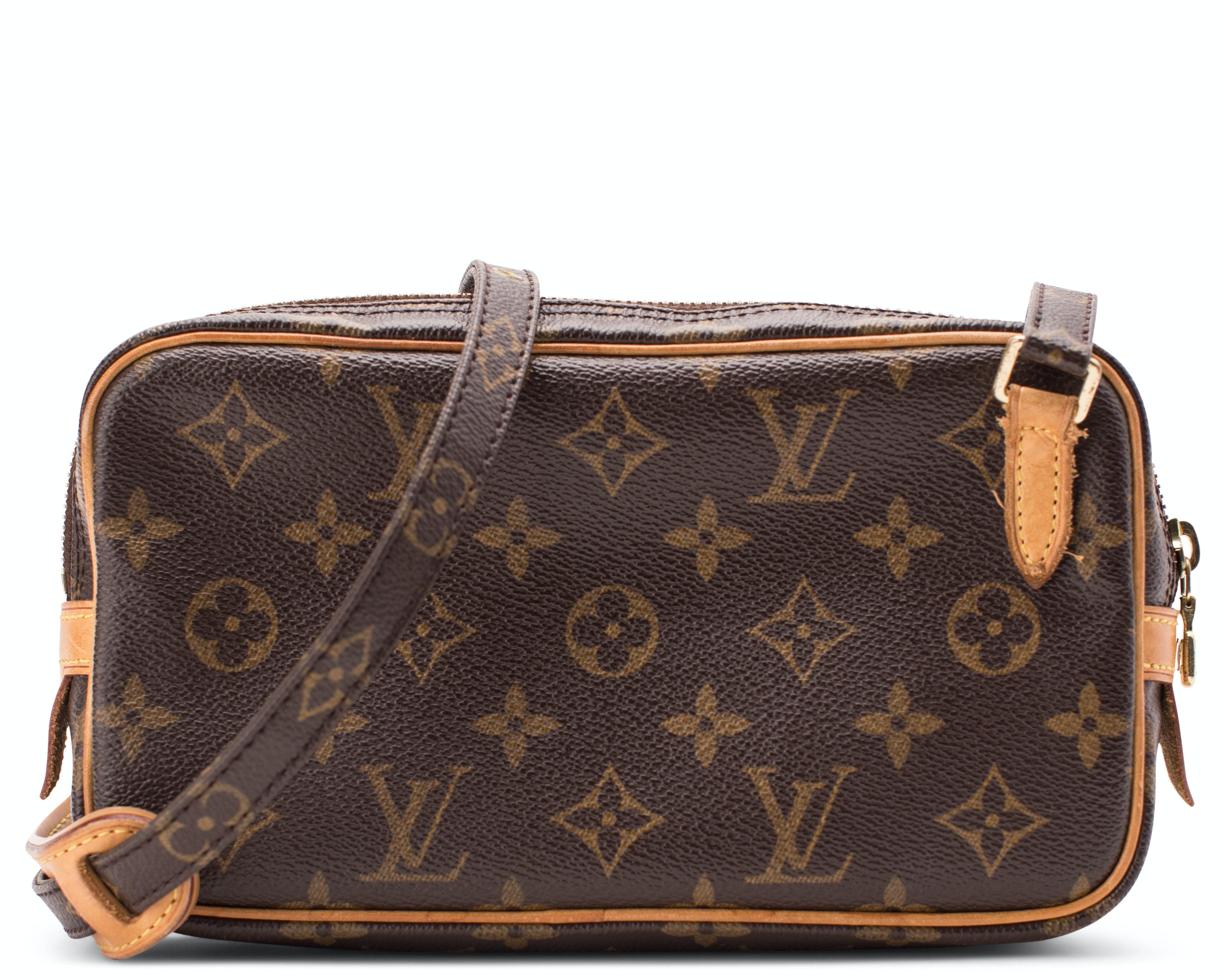 Louis Vuitton Marly Bandouliere Pochette Monogram Brown