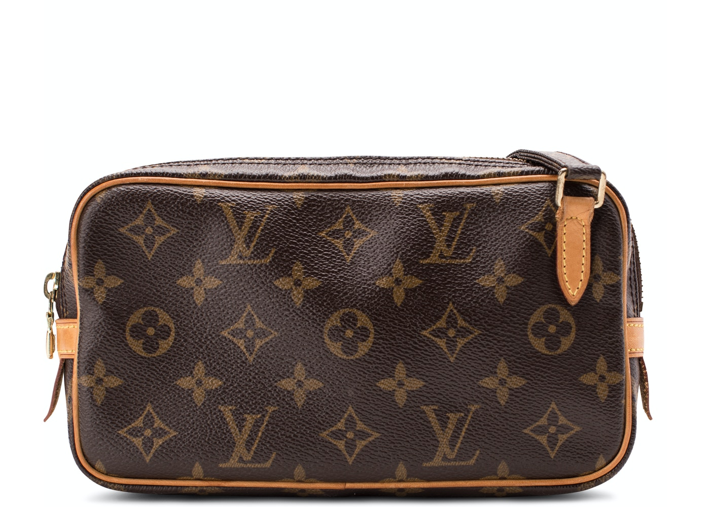 a443c9bc22ec Louis Vuitton Marly Bandouliere Pochette Monogram Brown