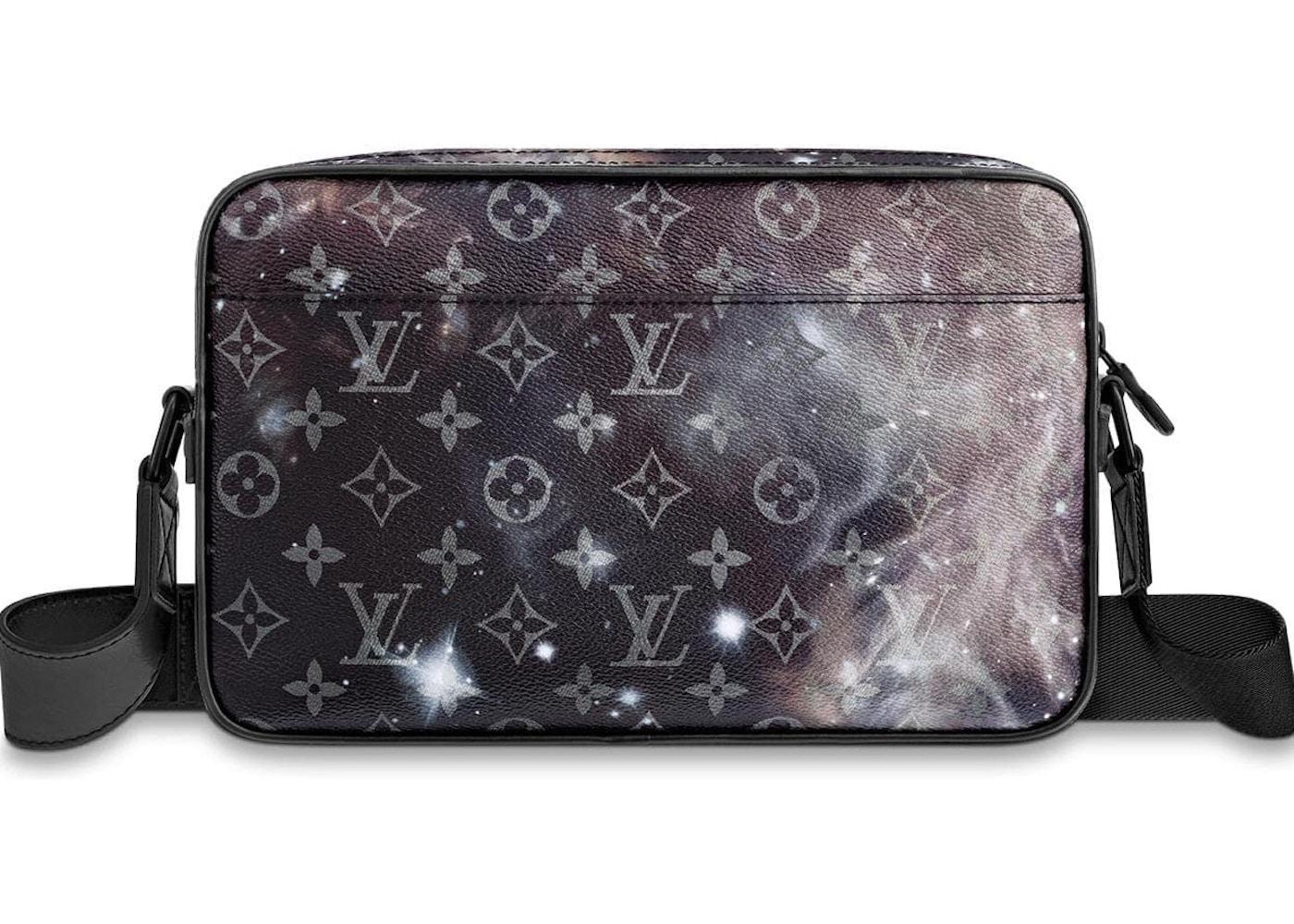 f133d0ae21fb3 Louis Vuitton Messenger Alpha Monogram Galaxy Black Multicolor