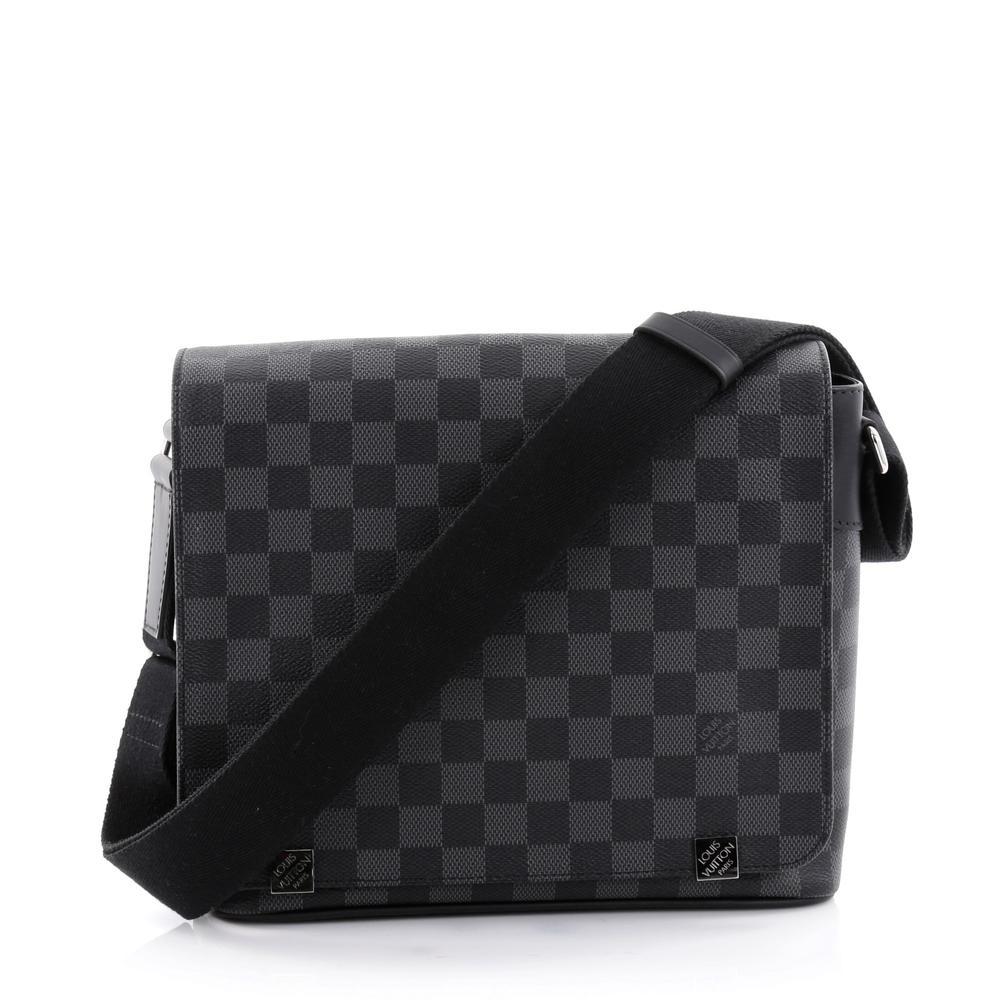 Louis Vuitton Messenger District Damier Graphite Nm Black