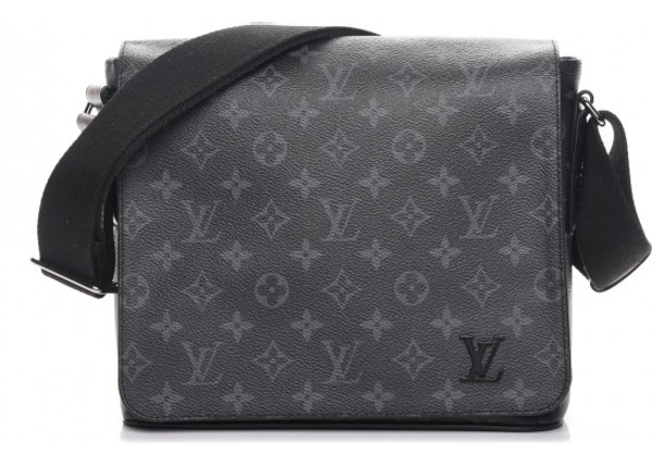 285c015fbea5 TOP. Louis Vuitton Messenger District Monogram Eclipse PM Noir Black