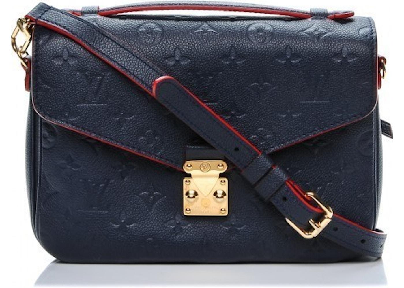 Louis Vuitton Pochette Metis Monogram Empreinte Marine Rouge. Monogram  Empreinte Marine Rouge 373615753d6a0