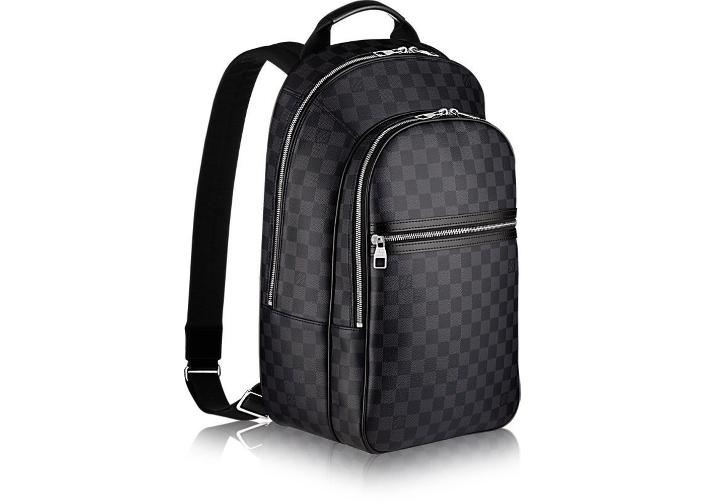 9f4e187618ba1 Louis Vuitton Backpack Michael NM Damier Graphite Noir
