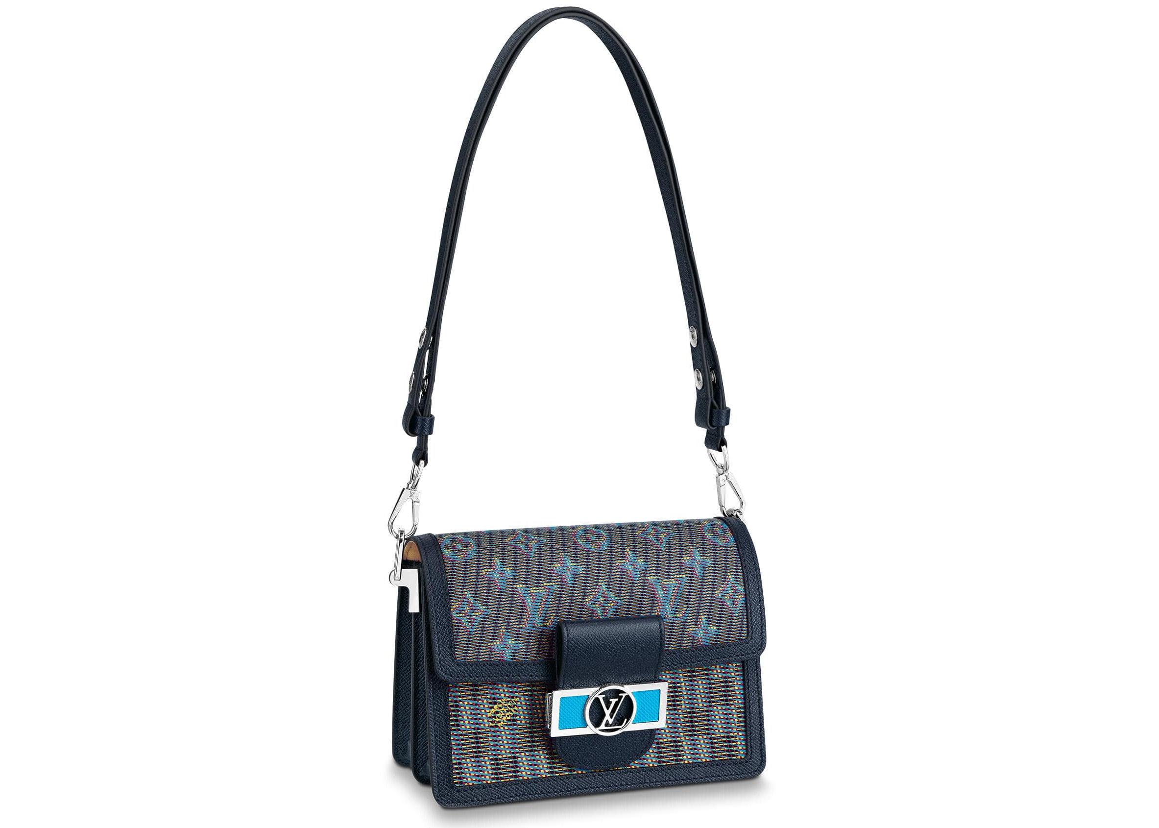 Louis Vuitton Mini Dauphine Damier Monogram Lv Pop Blue