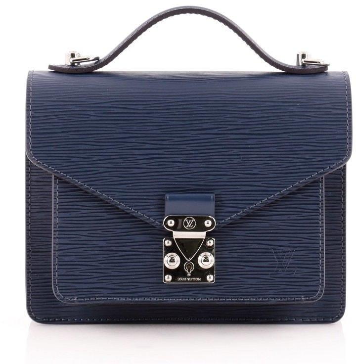 Louis Vuitton Monceau Epi BB Saphir