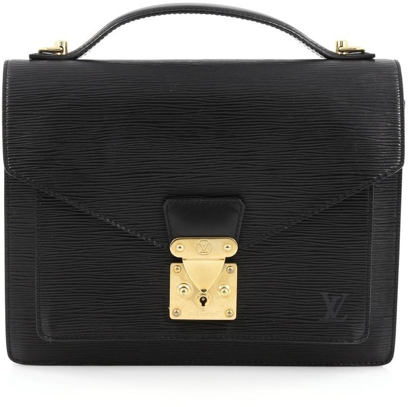 Louis Vuitton Monceau Epi PM Black
