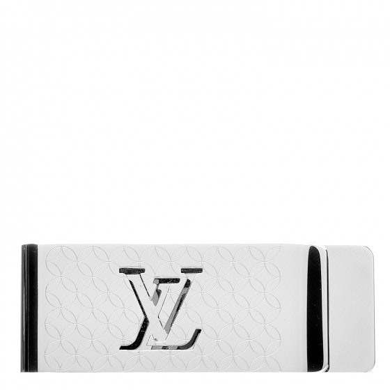 Louis Vuitton Money Clip Champs Elysees Engraved Silver