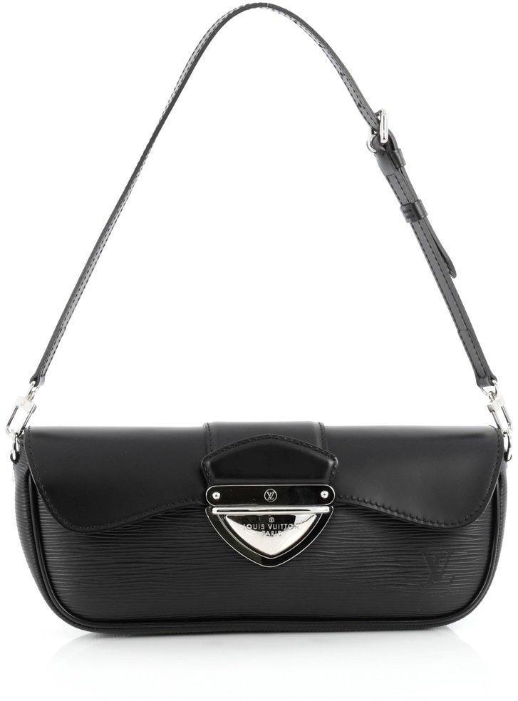Louis Vuitton Montaigne Clutch Epi Black
