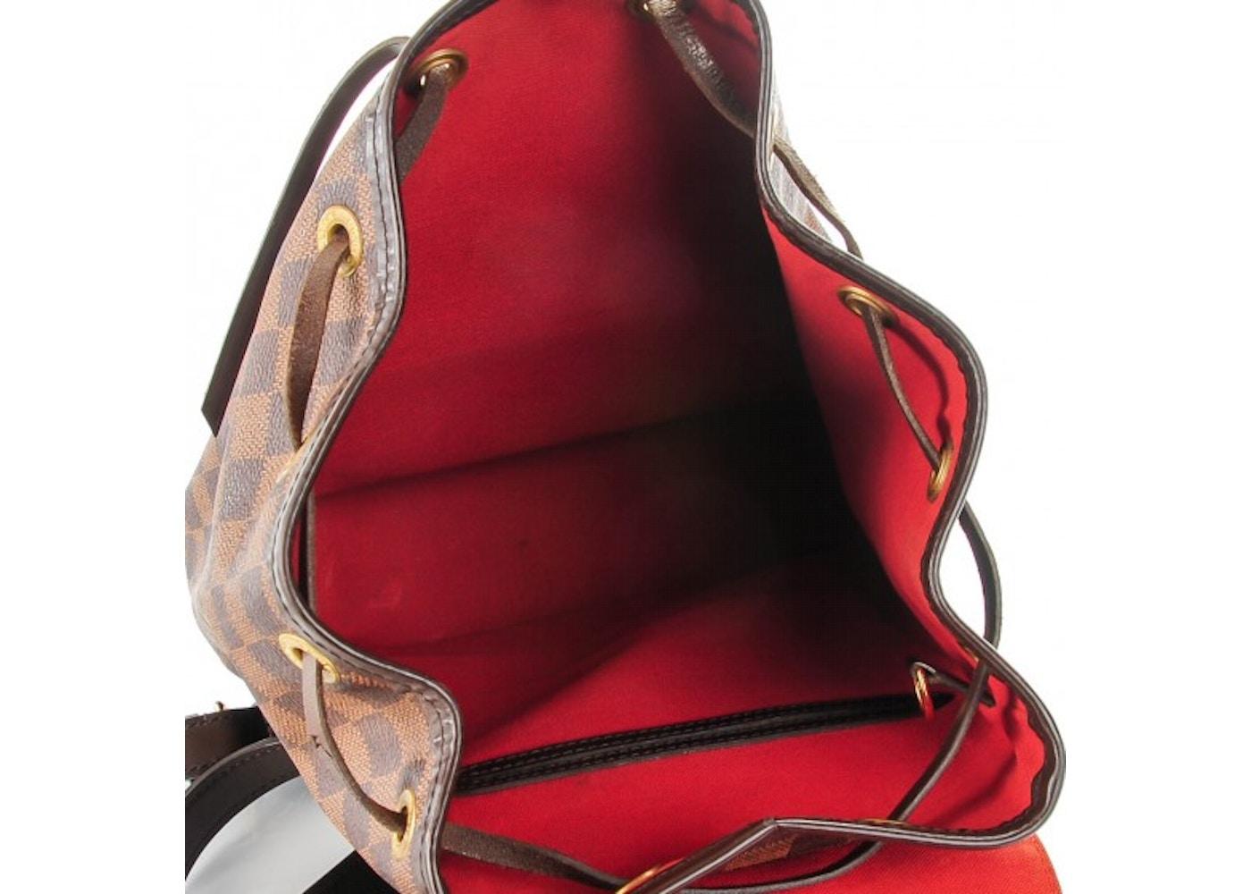 a20ee7743ce6 Louis Vuitton Montsouris Backpack Damier Ebene MM Brown