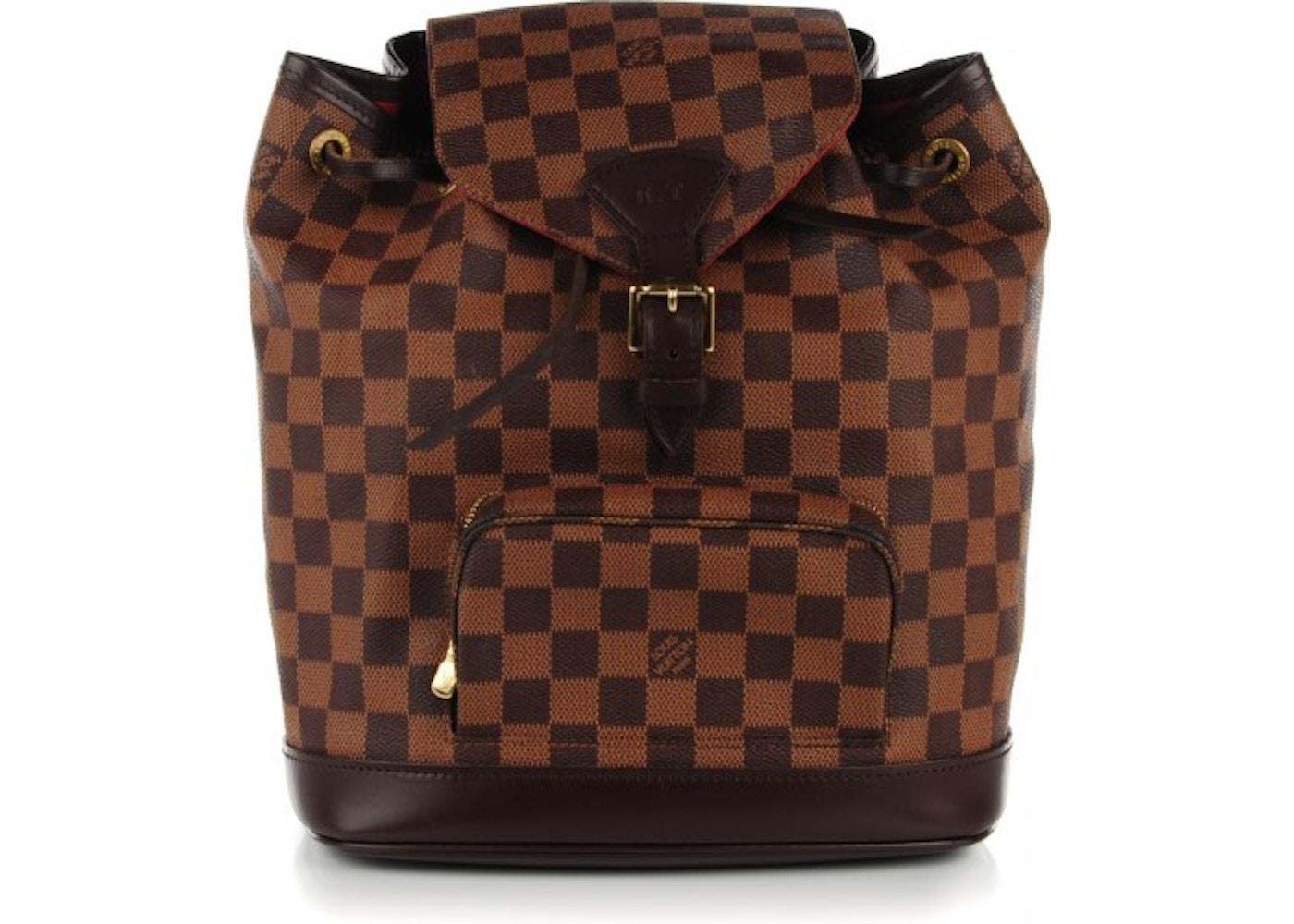 8d4a38c00357 Louis Vuitton Backpack Montsouris Damier Ebene MM. Damier Ebene MM