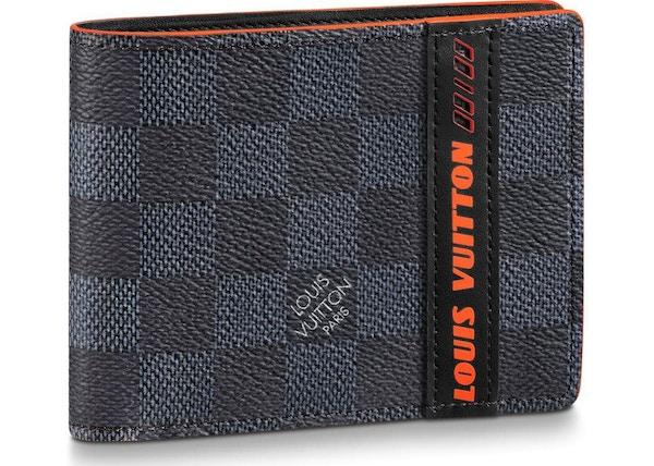 5a29b283fc Louis Vuitton Multiple Wallet Damier Cobalt Race Blue Orange