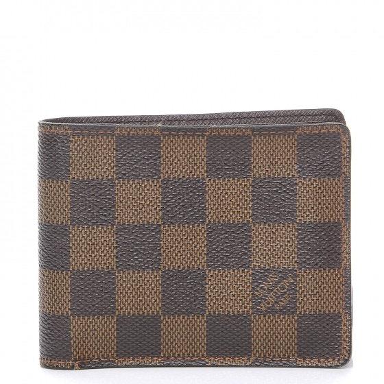 Louis Vuitton Multiple Wallet Damier Ebene Brown