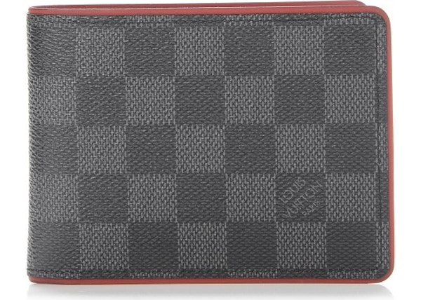 399bd7d8fb94 Louis Vuitton Multiple Wallet Damier Graphite Black Red