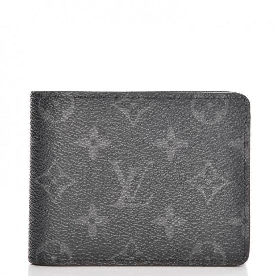 Louis Vuitton Multiple Wallet Monogram Eclipse Grey