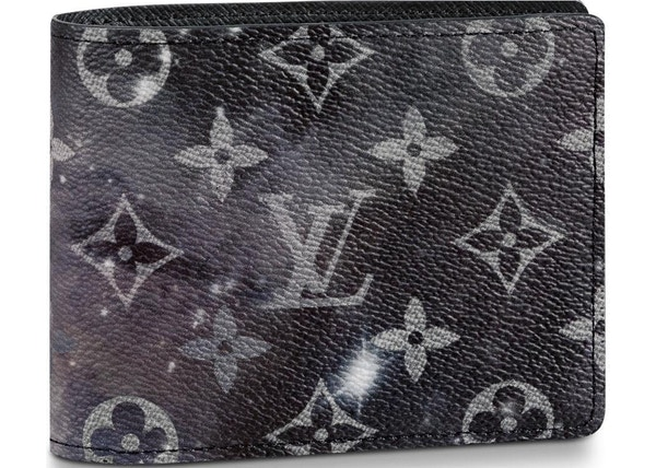b529fd2ce5f7c Louis Vuitton Multiple Wallet Monogram Galaxy Black Grey Multicolor