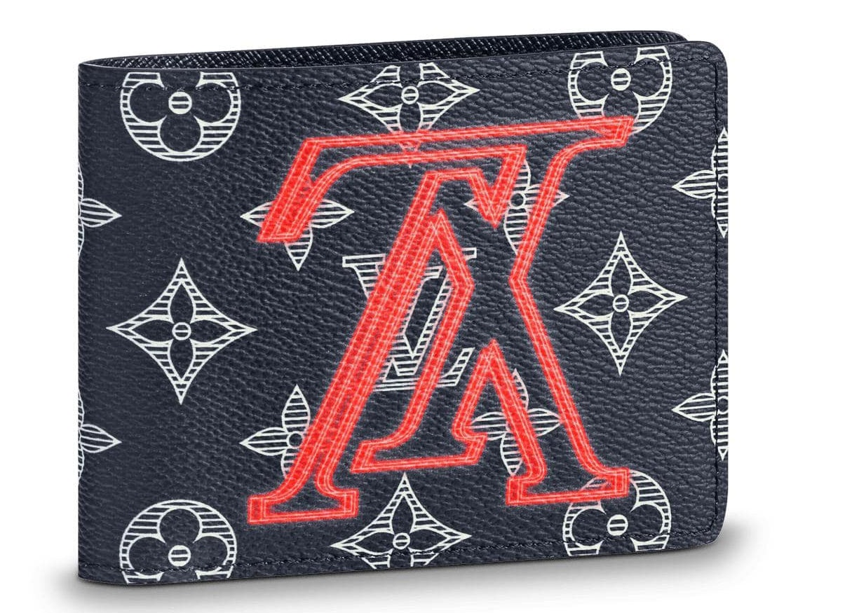 Louis Vuitton Multiple Wallet Monogram Upside Down Ink Navy