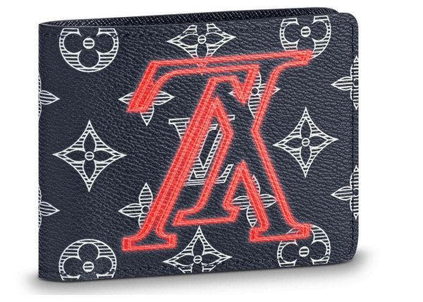 31dbb9528c8 Louis Vuitton Multiple Wallet Monogram Upside Down Ink Navy