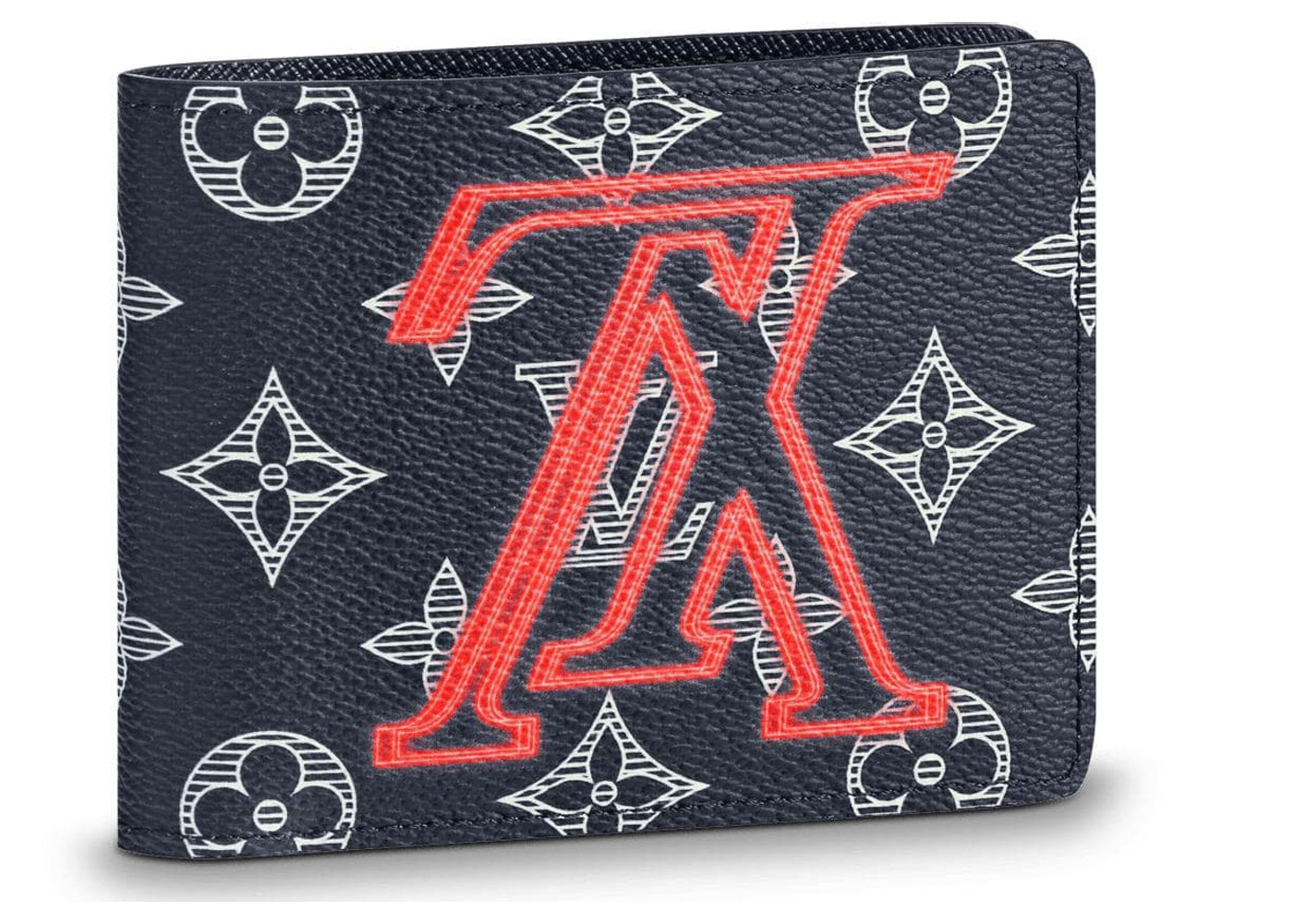b48825c1fcd1 Louis Vuitton Multiple Wallet Monogram Upside Down Ink Navy. Monogram  Upside Down Ink Navy