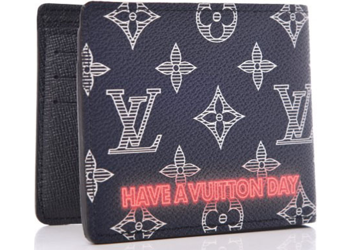 19461a9dce6b Louis Vuitton Multiple Wallet Monogram Upside Down Ink Navy