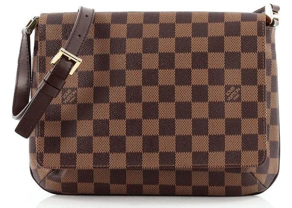 d33b6f3ff99d Louis Vuitton Musette Tango Long Strap Damier Ebene Brown