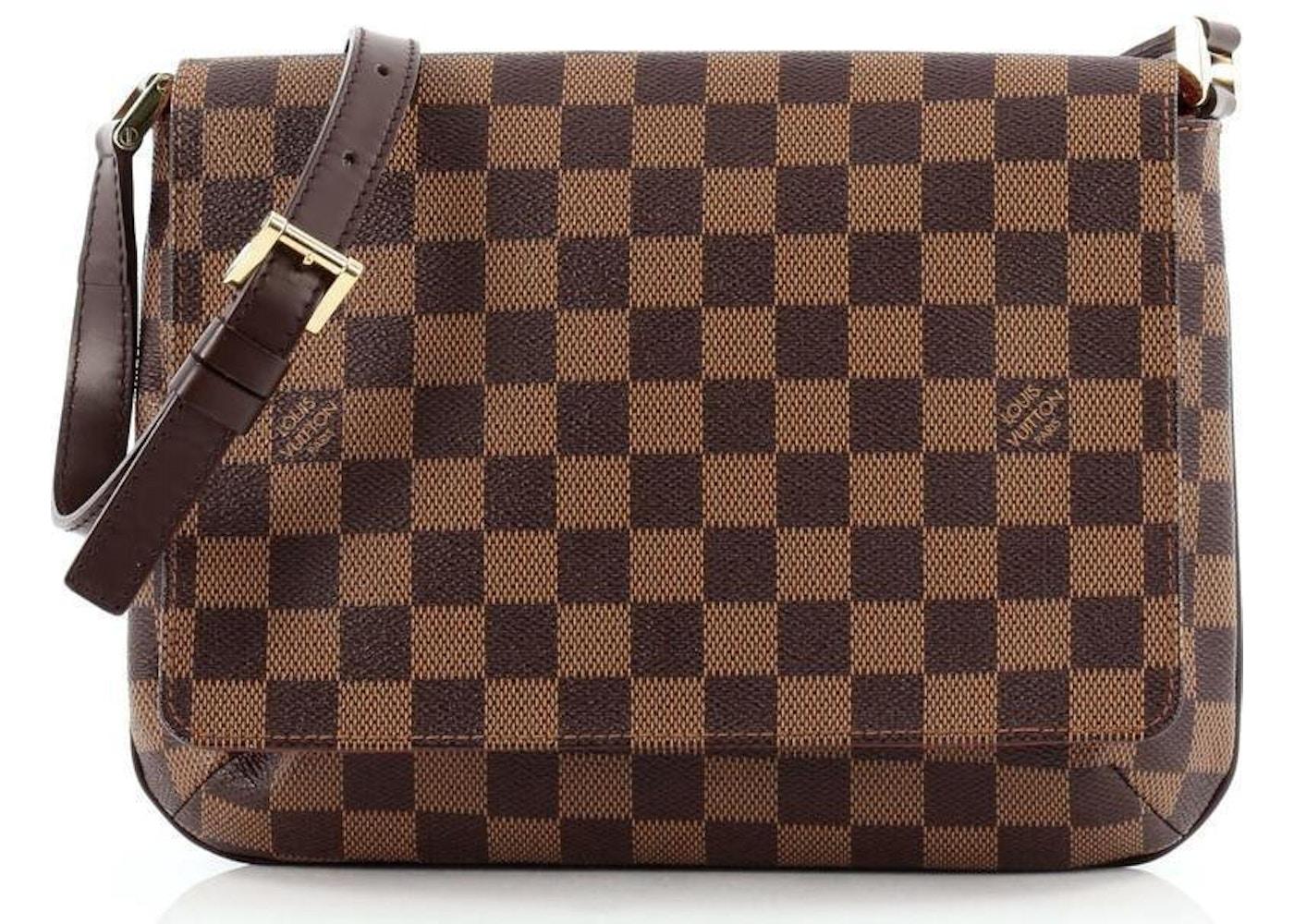 dfb8a9e6a6db Louis Vuitton Musette Tango Long Strap Damier Ebene Brown. Long Strap Damier  Ebene Brown