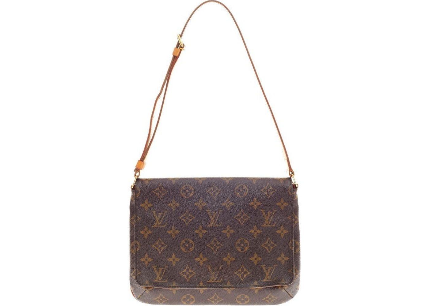 6a35e066e643 Louis Vuitton Musette Tango Long Strap Monogram Brown