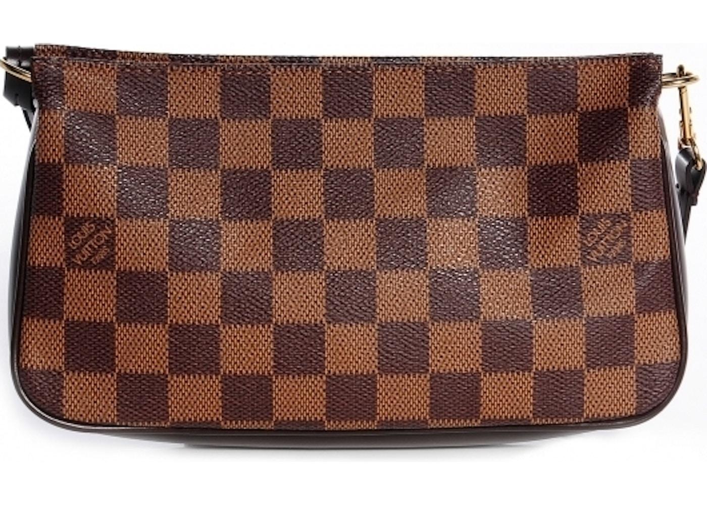 cfdec33d7e25 Louis Vuitton Navona Pochette Accessories Damier Ebene Brown. Damier Ebene  Brown