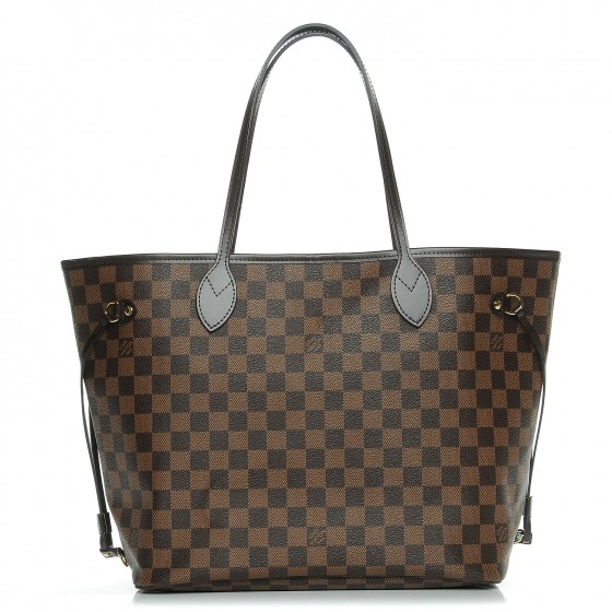 Louis Vuitton Neo Neverfull Damier Ebene (Without Pouch) Mm Rose Ballerine Lining