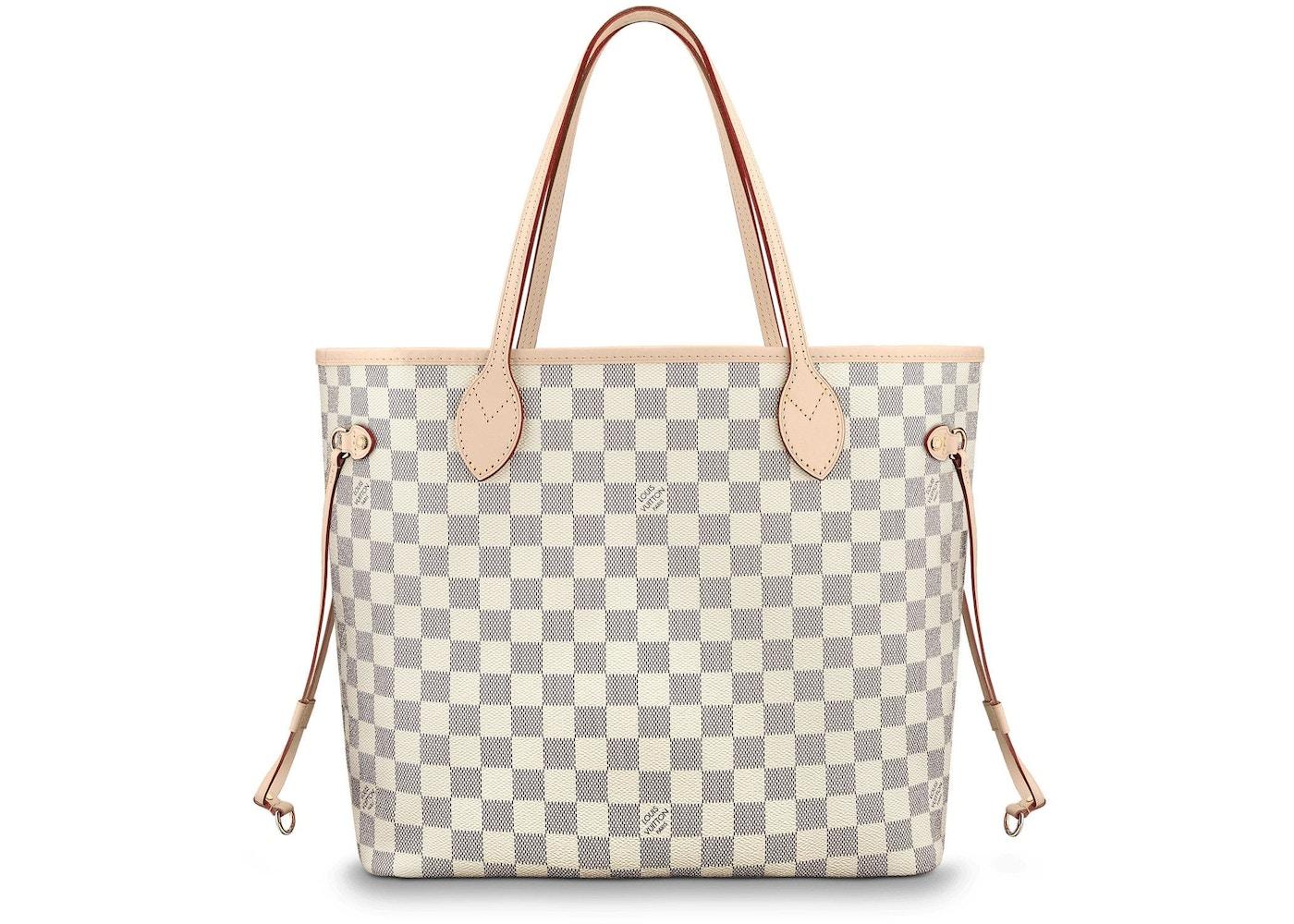 Louis Vuitton Nevefull Damier Azur Without Pouch Mm Beige Lining