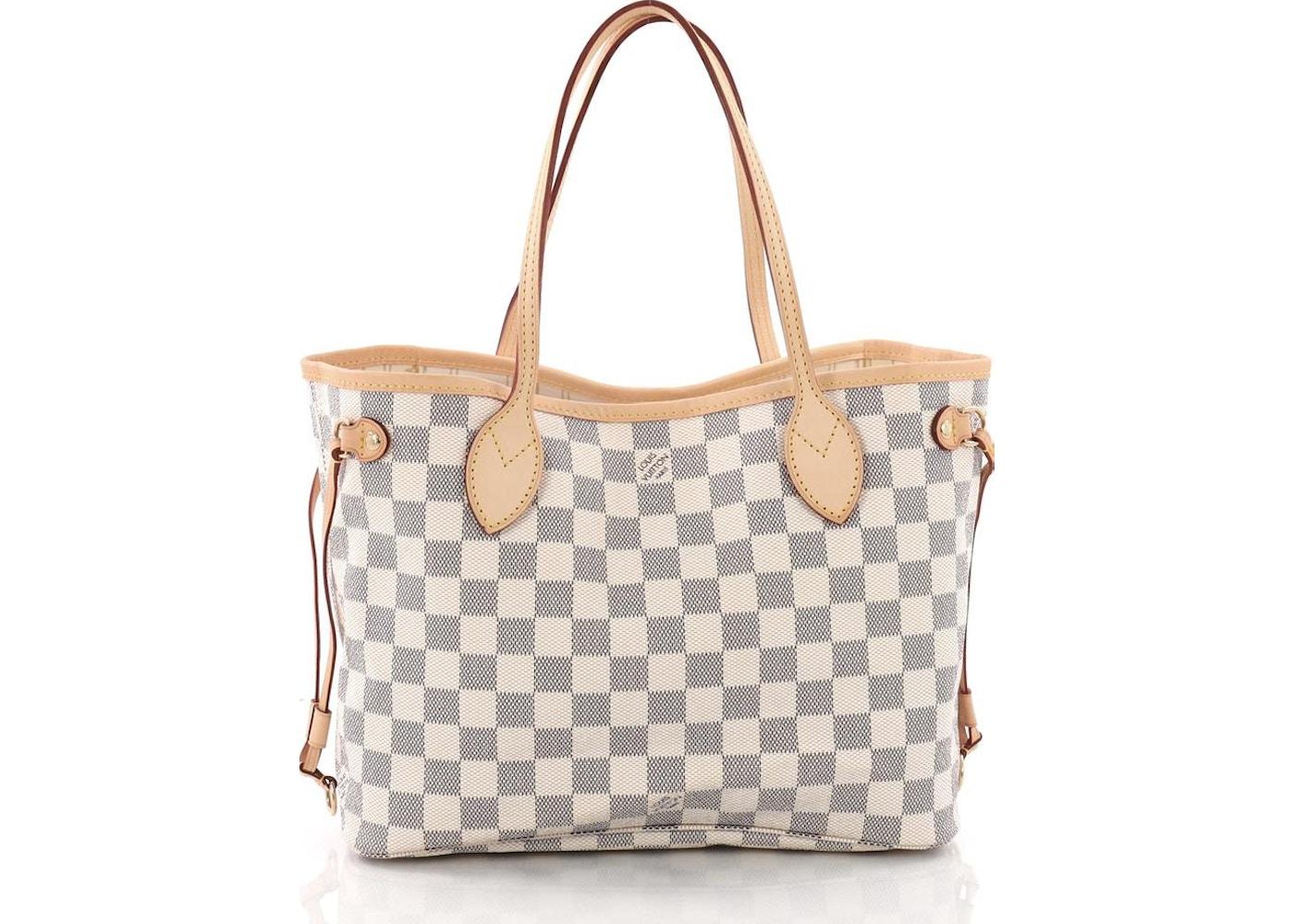 150bd6ce80e2 Louis Vuitton Neverfull Damier Azur PM Ivorie Grey