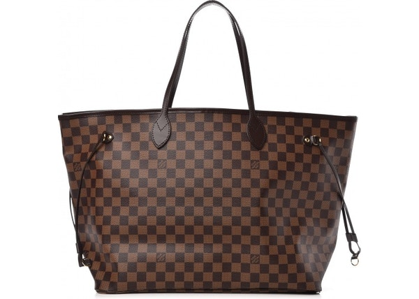 482241425351 Louis Vuitton Neverfull Damier Ebene GM Brown