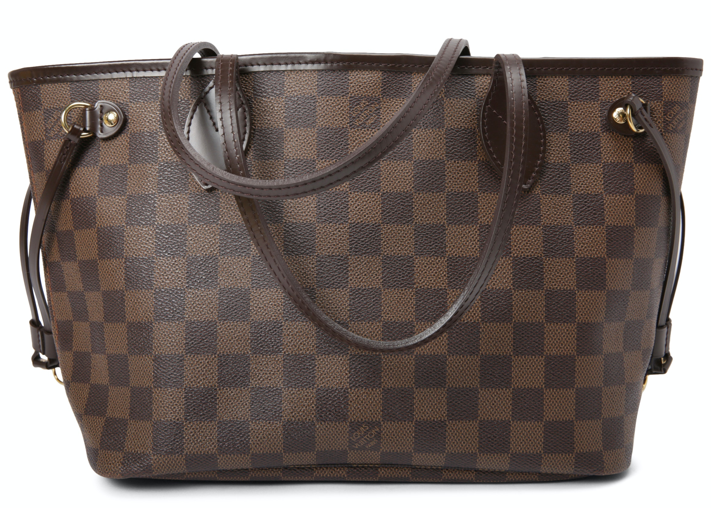 Louis Vuitton Neverfull Damier Ebene (Without Pouch) Pm Cerise Lining by Stock X