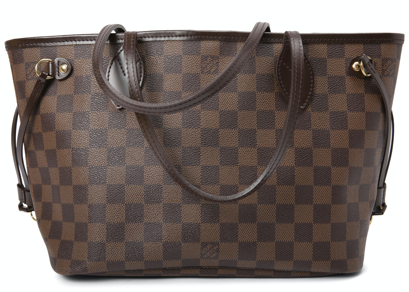 d416bb35ccb Louis Vuitton Neverfull Damier Ebene (Without Pouch) PM Cerise Lining