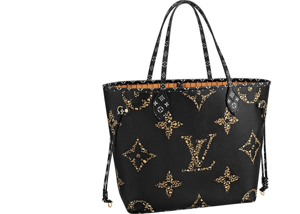 Louis Vuitton Neverfull Monogram Giant Jungle (Without Pouch) MM Black/Caramel