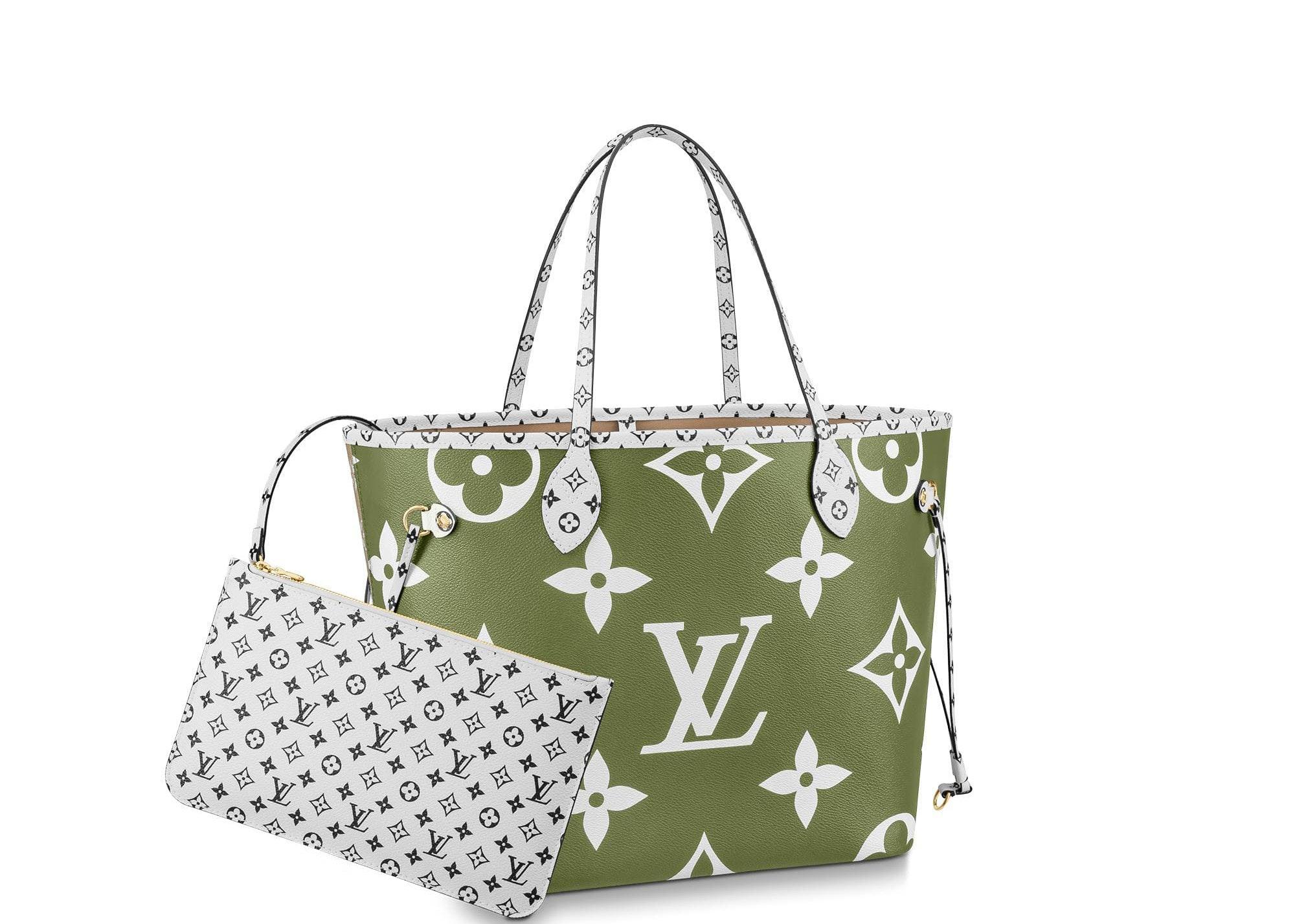 Louis Vuitton Neverfull Giant Monogram MM Khaki Green/Beige