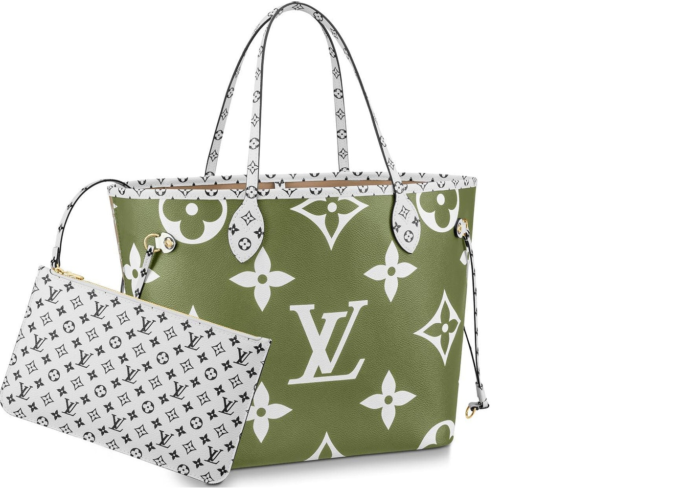 2aaaf45eb7 Louis Vuitton Neverfull Monogram Giant MM Khaki Green/Beige. Monogram Giant  MM Khaki Green/Beige