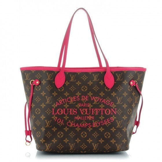 Louis Vuitton Neverfull Ikat Monogram Indian Rose MM Brown/Indian Rose