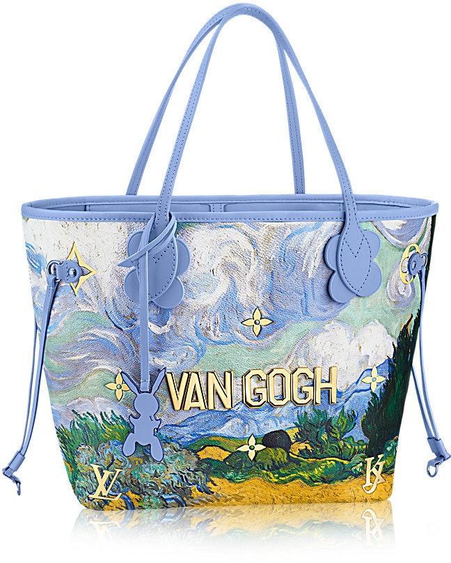 Louis Vuitton Neverfull Van Gogh Monogram Masters Multicolor MM Periwinkle