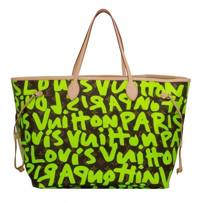 Louis Vuitton Neverfull Monogram Graffitti GM Green