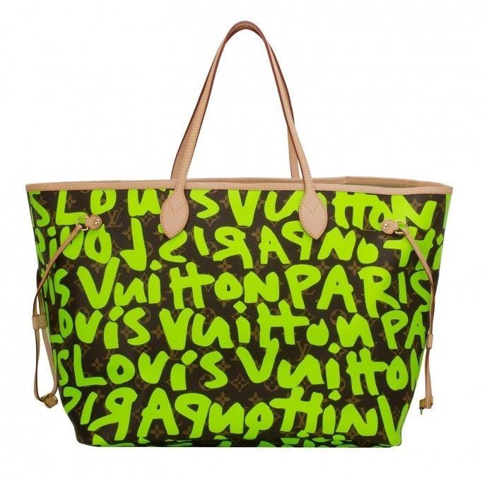 Louis Vuitton Neverfull Monogram Graffitti GM Green